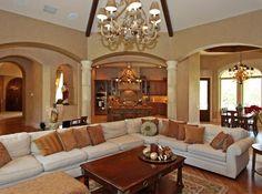 Mediterranean estate - like the open floor plan
