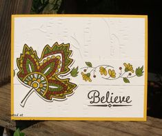 Fall Leaves by Stampin.Scrapper - Cards and Paper Crafts at Splitcoaststampers