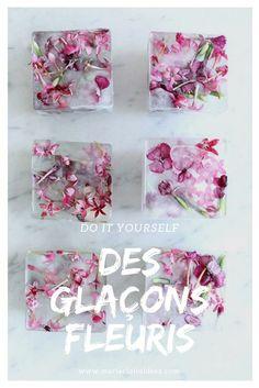Comment faire des glaçons fleuris / diy glacons fleuris