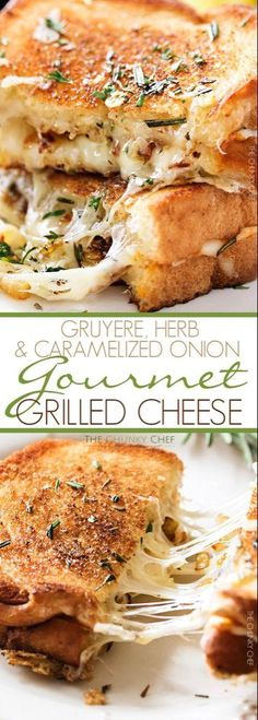 awesome Ultimate Grilled Cheese Gooey Gruyere and white cheddar cheese, savory…. Lunch Recipes, Vegetarian Recipes, Cooking Recipes, Grilling Recipes, Cooking Ideas, Ultimate Grilled Cheese, Gormet Grilled Cheese, Bacon Grilled Cheeses, Grilled Cheese Recipes Easy