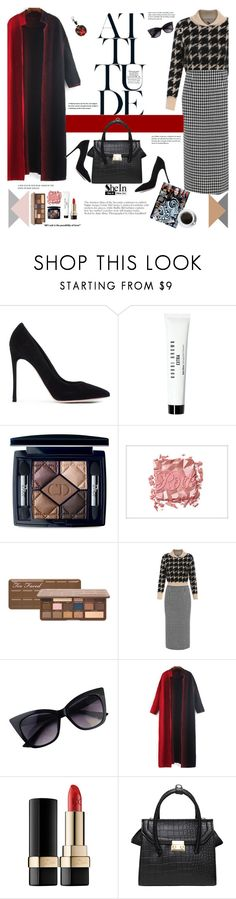 """She has attitude"" by naki14 ❤ liked on Polyvore featuring Gianvito Rossi, Bobbi Brown Cosmetics, Christian Dior, Benefit, Dolce&Gabbana, Fendi, Sheinside and shein"