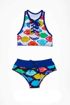 Sporty and cool 2 piece with great coverage. Girls Bathing Suits, Two Piece Swimwear, Our Girl, These Girls, Bikini Girls, Summer Time, Swimming, Bikinis, Collection