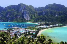 "Phi Phi Island is a real beauty! This is a world famous island where Leonardo DiCaprio starred in a movie called ""The Beach"". The island is so secluded and disconnected from big crowds and chaos that only peace, tranquility, and serenity await you. http://beachresortsthailand.com"