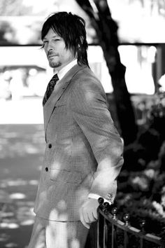 Norman Reedus in a suit