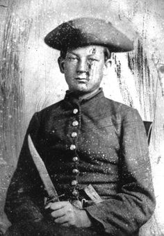 Portrait of Confederate soldier Washington Mackey Ives from the 4th Florida Infantry in Chattanooga, Tennessee.
