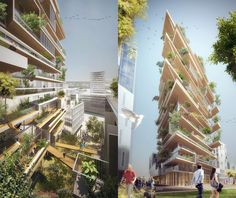 Magnificent timber skyscraper will sequester carbon and add greenery to Bordeaux