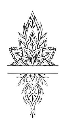 Mandala Wrist Tattoo, Geometric Mandala Tattoo, Mandala Tattoo Design, Lotus Tattoo, Henna Tattoo Designs, Lotus Mandala Design, Tattoo Outline Drawing, Tattoo Design Drawings, Mandela Tattoo