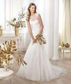Pronovias te presenta el vestido de novia Lanice. Glamour 2014. | Pronovias