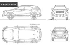 Ford Territory CAD Block Bloc Autocad, Bmw X7, Pole Star, Volvo Cars, Cad Blocks, Premium Cars, Automobile Industry, Unique Cars, Car Sketch