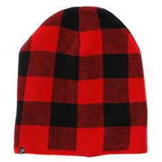 Plush Plaid Beanie ($60) ❤ liked on Polyvore featuring accessories, hats, lined beanie, tartan hat, beanie cap hat, lined beanie hat and beanie cap