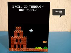 Retro Video Game Greeting Cards