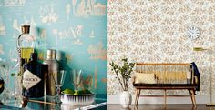 Patterned Wallpaper from Rifle Paper Co. &Hygge & West