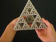 Sierpinski Pyramid (2052 Balls) made with NeoCube magnets.