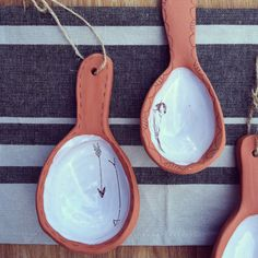 handmade large scoop spoon functional & decorative by nelledesign, $24.00