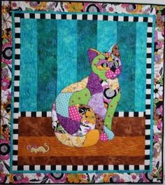BJ Designs & Patterns Princess Kitty Kitty Applique Quilt Pattern