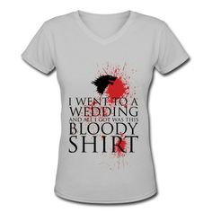 Red Wedding, All I Got Was a Bloody Shirt V-Neck T-Shirt | Spreadshirt | ID: 12927325