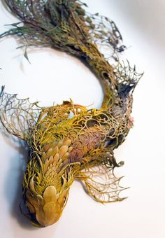 """Natural history surrealist sculpture,"" is what sculptor Ellen Jewett calls her creations which are a mixture of both plants and animals. Her work references many different sources such… Art Sculpture, Animal Sculptures, Clay Sculptures, Surrealism Sculpture, Cardboard Sculpture, Pottery Sculpture, Pop Surrealism, Abstract Sculpture, Ellen Jewett"
