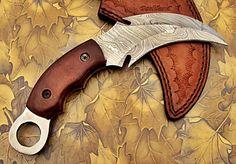 CBT-101 Custom Handmade Damascus Steel Karambit Knife- Rock Solid Knife by PoshlandKnives on Etsy https://www.etsy.com/listing/198493896/cbt-101-custom-handmade-damascus-steel