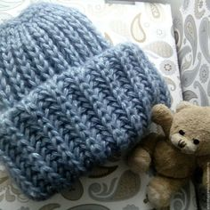 Купить Модная шапочка крупной вязки Happy Hat - шапка, шапка вязаная, шапочка Pamela, Knitted Hats, Scarves, Winter Hats, Hair Accessories, Knitting, Style, Fashion, Berets