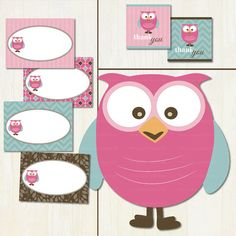 It's a Girl Mod Owl Baby Shower Printable by TracyAnnPrintables, $15.00