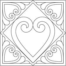 Heartfelt quilting pattern - American Quilter's Society