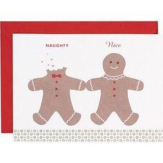 Naughty nice gingerbread men