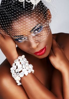 Bridal hair and make up for black women