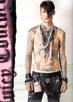 ink, jonathan kroppmann, juicy couture, man, punk, tattoo