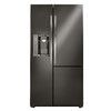 Shop LG 26.1-cu ft Side-by-Side Refrigerator with Single Ice Maker and Door Within Door (Black Stainless Steel) ENERGY STAR at Lowes.com