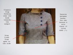 Sew sew sew your boat: Full Bust Adjustment (FBA) - tutorial på svenska Sewing Basics, Sewing Hacks, Sewing Tutorials, Sewing Tips, Sewing Ideas, Sewing Projects, Techniques Couture, Sewing Techniques, Fashion Sewing