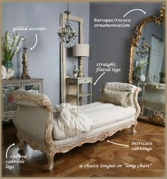 I love the 'fanciness' of French style. Definitely a look I want to reference in our master bedroom.