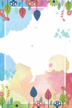 Fondo De Borde De Hojas Pintadas Acuarela Gouache Frontera Planta Hojas Pintura Fresca Hojas Frontera Antecedentes Kids Background, Flower Background Wallpaper, Cute Wallpaper Backgrounds, Flower Backgrounds, Textured Background, Cute Wallpapers, Watercolor Border, Watercolor Texture, Boarder Designs
