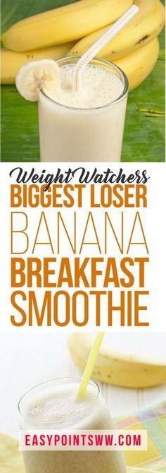 Weight Watchers Biggest Loser Banana Breakfast Smoothie♥