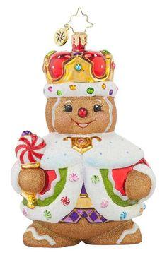 Christopher Radko 'Ginger King' Gingerbread Man Ornament