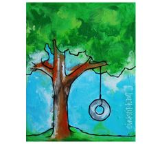 painting-tire-swing-in-tree