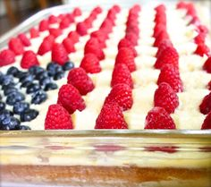 Stars and Stripes Flag Cake Recipe on Yummly