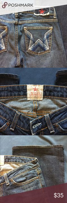 """People's Liberation jeans Excellent condition!! Great star pattern and wider leg. 31"""" inseam People's Liberation Jeans Flare & Wide Leg"""