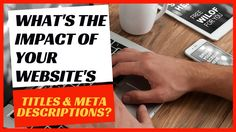 Optimizing a website's titles and meta descriptions are among the first items that get managed in an SEO campaign. Unfortunately, people tend to think that the website's content will rank by only optimising these factors, which isn't true.   In this video, I discuss the impact of optimising a web page's titles and descriptions, as well as other factors that you should consider in order to help your website's pages rank well on Google.
