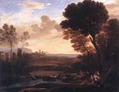 [Baroque]] Claude Lorrain Landscape with Paris and Oenone 1648 Oil on canvas, 119 x 150 cm Musée du Louvre, Paris