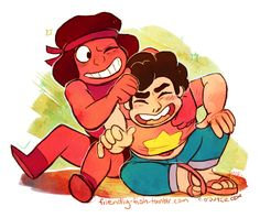 Steven Universe - Ruby and Steven