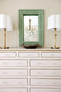 gold trim on dresser
