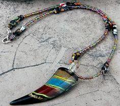 a beautiful Lampwork Glass Beads  Necklace