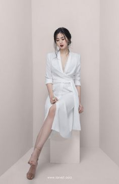 Pin on Dresses❤️ All products are designed and made by Lane JT Dress Outfits, Girl Outfits, Fashion Dresses, Korean Fashion Dress, Front Slit Dress, Dress Up, Look Fashion, Girl Fashion, Short Dresses