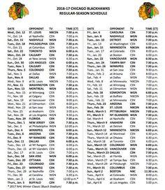 + ideas about Blackhawks Schedule on Pinterest   Chicago Blackhawks ...