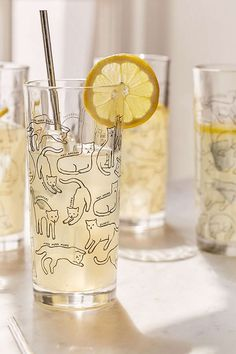 Kitty Highball Glass - Set Of 4 | Urban Outfitters