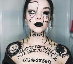 Ouija board face paint
