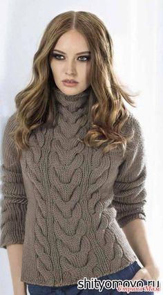 Предлагаю связать вот такой пуловер спицами онлайн, опрос проходил тут - http://www.stranamam.ru/