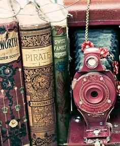Vintage Kodak Camera and Books Print Photography by ARobertsphotos, $20.00