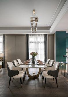 【新提醒】布鲁盟新作丨别墅设计:自由的灵魂-拓者设计吧 Sofa Furniture, Furniture Design, Hotel Apartment, Dining Table Chairs, Tile Floor, Lounge, Flooring, Canteen, Home Decor