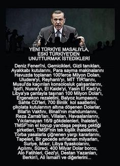 """YENİ TÜRKİYE MASALIYLA ESKİ TÜRKİYE'DEN UNUTTURULMAK İSTEDİKLERİ....... """""""